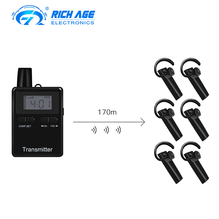 Hot Sale Wireless Audio Bluetooth Headset Tour Guide Sistem Transmitter Receiver Untuk Guide