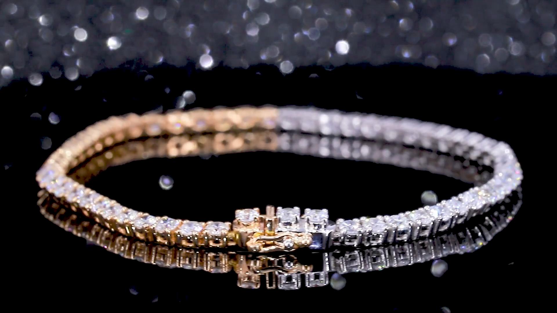 2020 Offre Spéciale diamant bijoux personnaliser 18K SOLIDE or moissanite bracelet de tennis