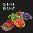 customized PVC plastic packing film with fruit shape for the candy chocolate