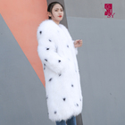 very high quality and Hot Selling White Fox Fur coat, Women's Fashion Coat, Winter Coat Female Fur Outerwear
