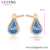 80132 Xuping fashion Hot Mexican Style Blue Drip Stud Earrings
