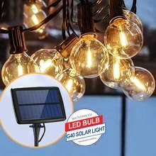 Солнечный светильник G40 Tungsten 25 LED 4 режима Водонепроницаемая наружная гирлянда Солнечная энергия лампа Рождество для украшения сада 6(Китай)