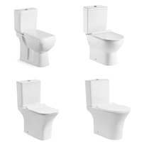 Bathroom water two pcs closet 2 piece toilet ceramic wc two piece toilet