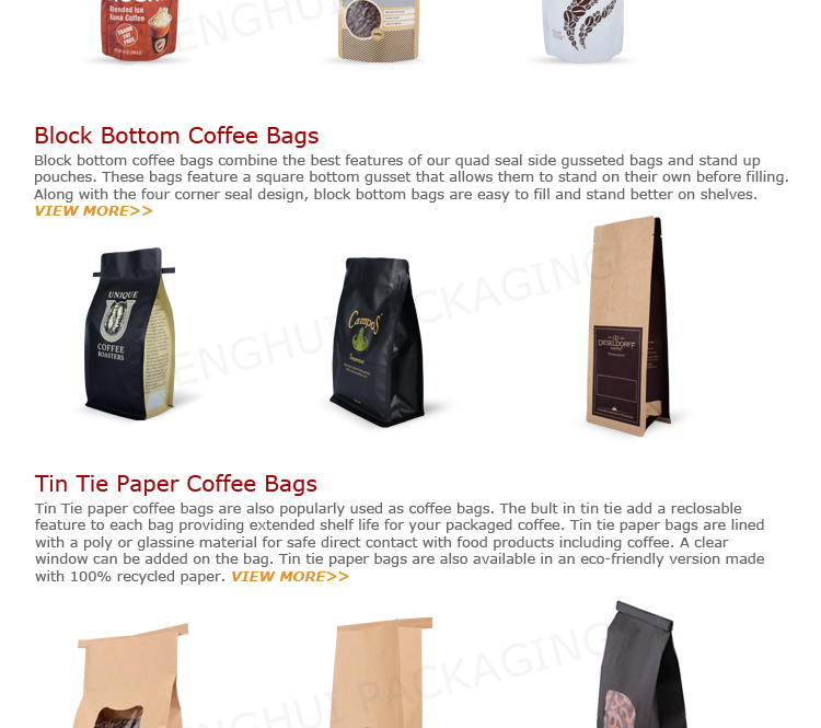 Environmental Friendly Plastic One Way Valve Coffee Bag Factory In China