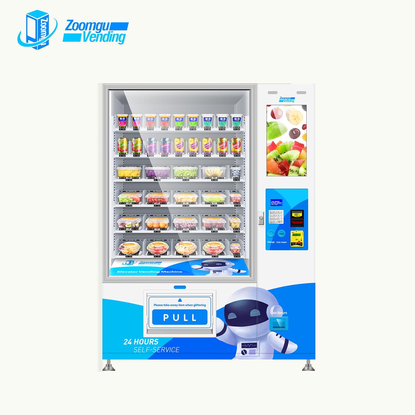 Zoomgu Automatische kalt gesunde lebensmittel vending maschine und snack automaten
