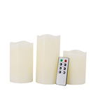 Trending hot products flameless led candle set of 3 bulk paraffin wax led candles set