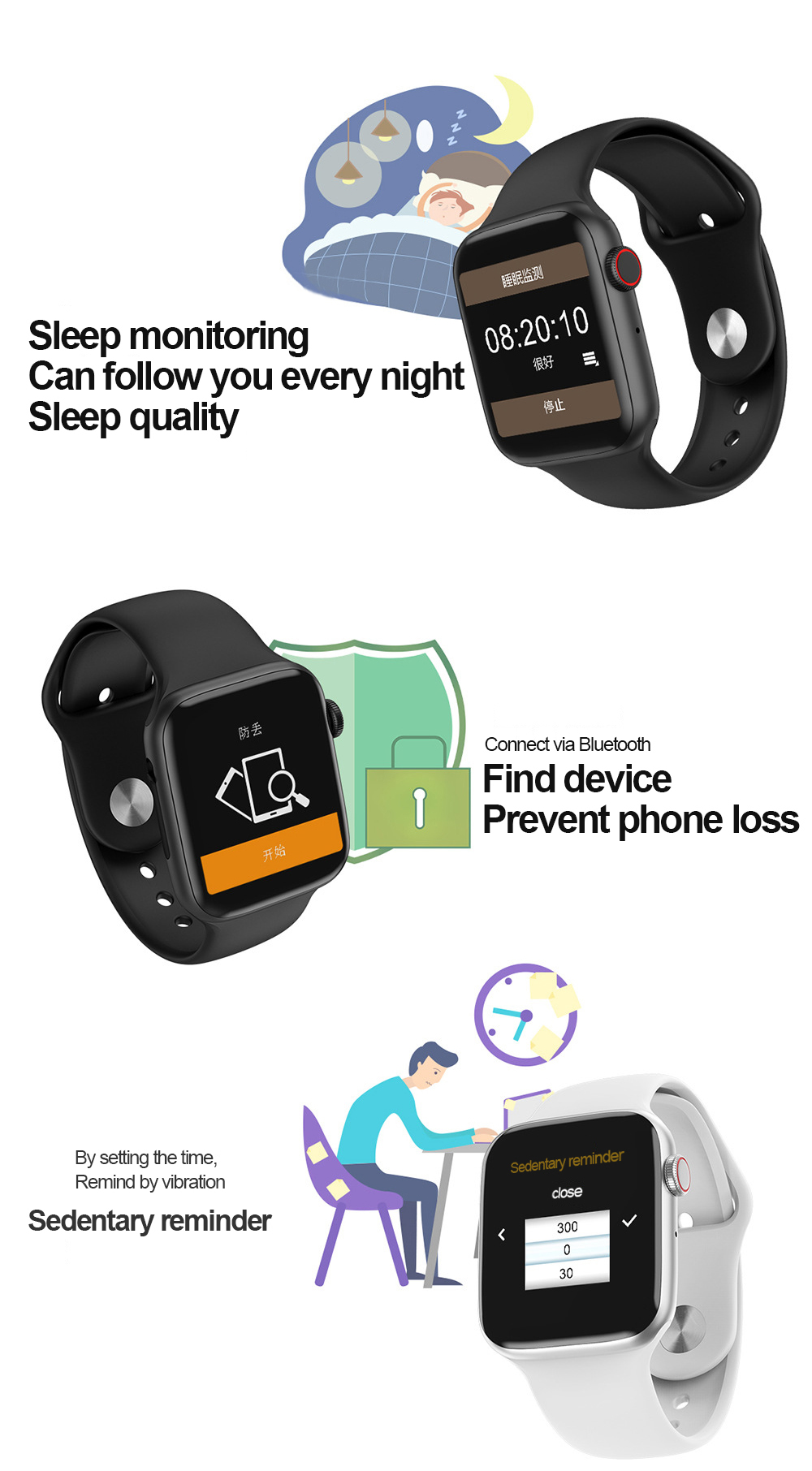 High quality W34 Bluetooth call heart rate monitoring  smart watch 2019 smart watch