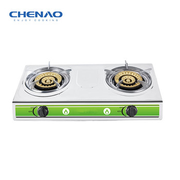 Table top gas cookers with 2 cast iron burner