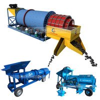 Diamond Recovery Washing Trommel Scrubber High Efficiency Mining Equipment Mobile Gold Processing Plant