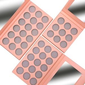 DIY Private Label Empty Makeup Pink Palette Custom Eyeshadow Palette Packaging
