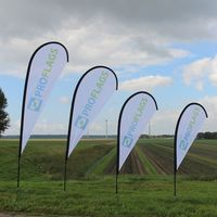 Outdoor beach advertising wind swooper feather flags teardrop flying banner and promotional tear drop beach flag