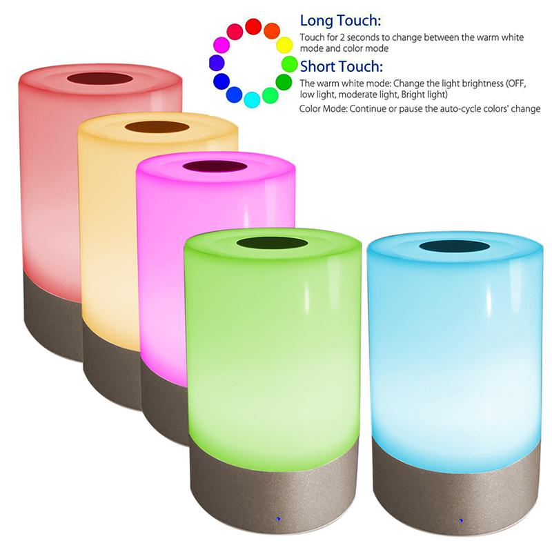 Best Multicolor Color Changing Kids Bedside LED Night Light With Touch Sensor