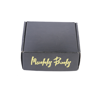Matte black custom paper box gift with gold hot stamping finished