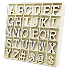Craft Wooden Storage Boxes Wooden Craft Alphabet Letters And Symbols With Storage Box Wall Decor Capital A To Z And 4 Symbols Letters