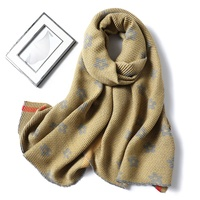 2019 Newest Design Fashion Women Double Side Solid Color Winter Crinkle Floral Cashmere Scarf Pashmina