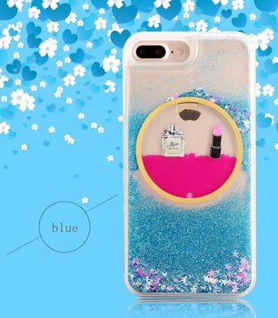 Summer fashion liquid glitter beautiful mobile phone back cover cases for waterproof phone pouch