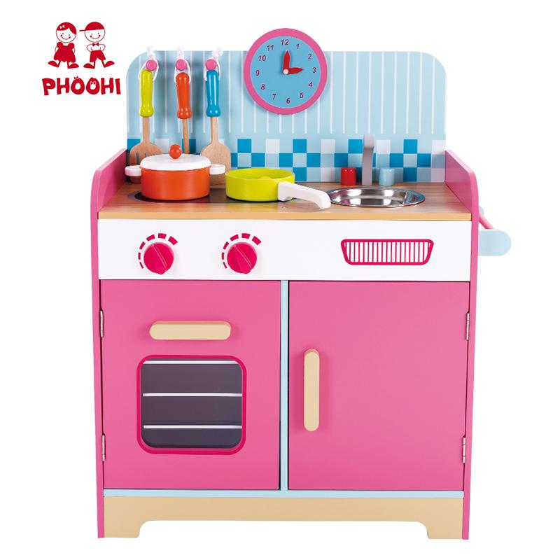 Kids Pink Cooking Accessories Wooden Pretend Play Kitchen Set Toy For  Children 3+ - Buy Kitchen Set Toy,Play Kitchen Set,Wooden Kitchen Toy  Product on ...