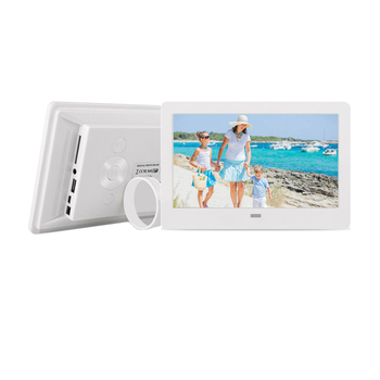 "Hot lcd screen White Color 7"" inch Size digital photo frame with VESA hole for mall shelf display"