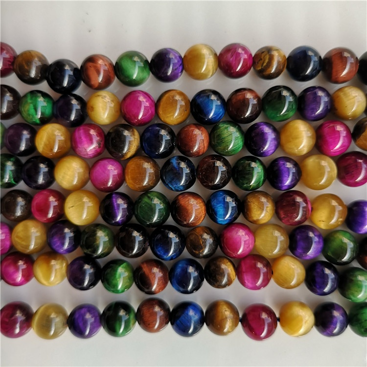 8mm Natural Round AAA Tiger Eye Agate Loose Stone Beads