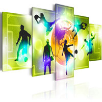 Decorative Abstract Print On Motivational Poster Custom Soccer Goal Wall Bedroom 5 Panel Art Canvas Oil Painting