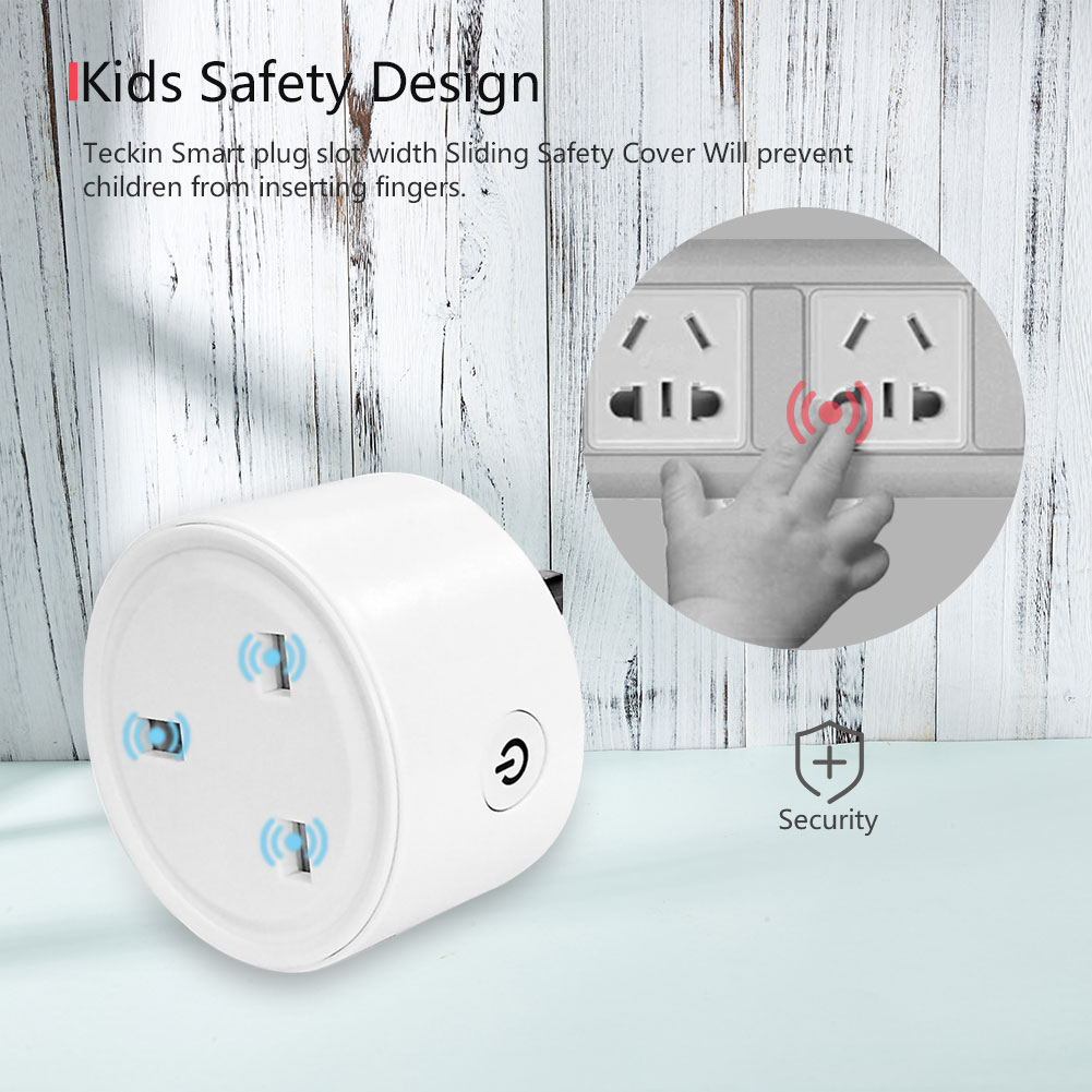 Mini UK Tuya Smart Remote Control Home Smart Socket Wireless Wifi Smart Plug UK Outlet Socket Work With Alexa Google Home