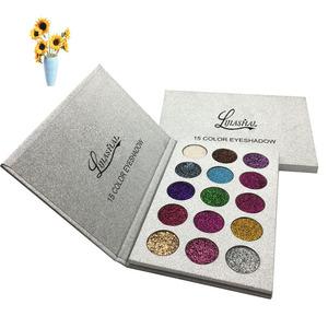 Oem high pigmented makeup neon eye shadow palette packaging luxurious custom private label vegan glitter eyeshadow palette