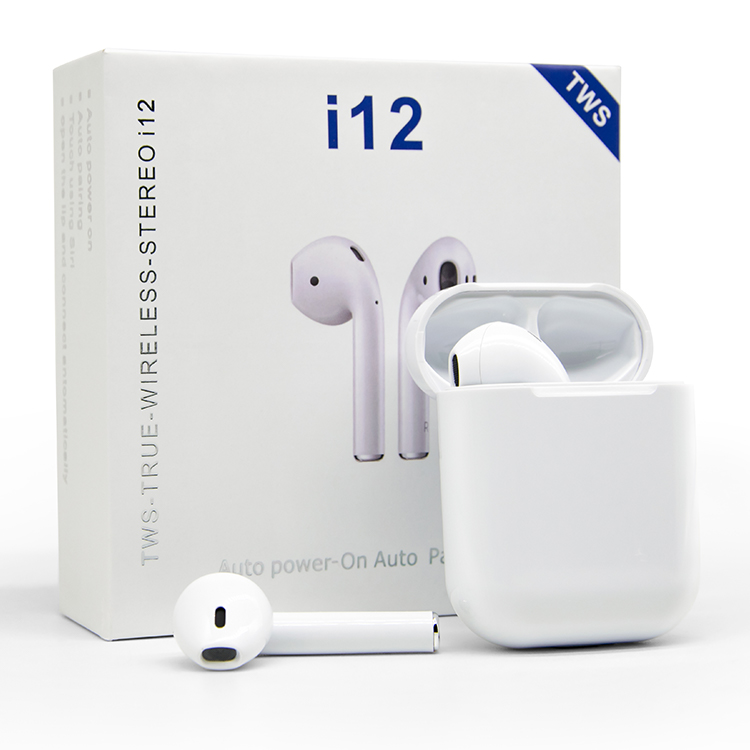 Touch Control Headphones Mini Blue tooth 5.0 Earbuds Wireless Blue tooth Earphone i12 - idealBuds Earphone | idealBuds.net