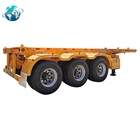 Skeleton Semi Trailer [ Chassis Axles ] China Supplier Quality Container Chassis 3 Axles Shipping Trailer Semi-trailer