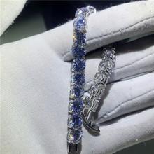 Женский теннисный браслет AAAAA, роскошный свадебный браслет ручной работы из фианита с 3 стилями, 8 мм, модные ювелирные украшения(Китай)