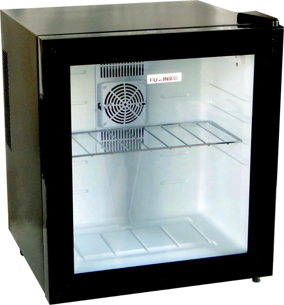 Glass Door Mini Bar Fridge Thermoelectric Cooling Small Refrigerator