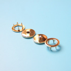 NIUNIU Factory Wholesale Brass Metal Rose Gold Prong Snap Button Ring For Garment From China