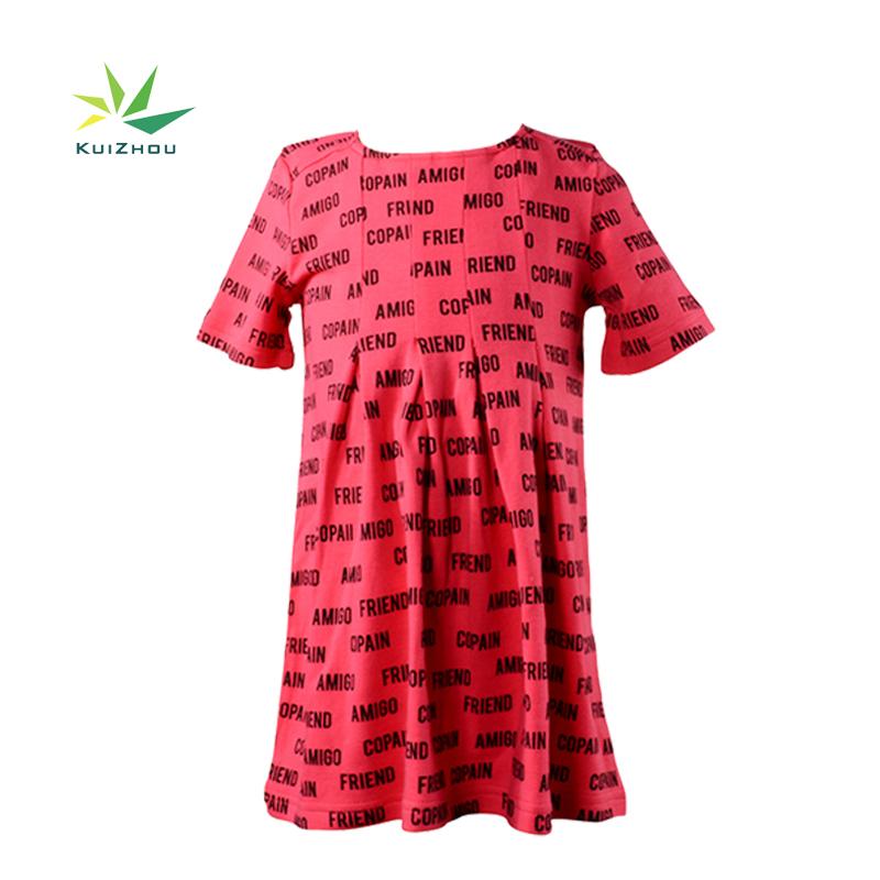 2020 新着半袖プリーツ A ライン夏 Girl 幼児ドレス