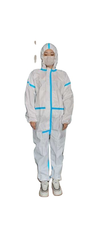 Hospital doctor safety pp coverall disposable medical protection suit with hood