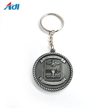 customized cheap metal antique gold silver souvenir key chains
