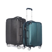 "Wholesale ABS PC 20"" 24"" 28"" Travel Case 8 Spinner Traveling Trolley Bag Business Custom Suitcase"