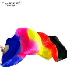1 шт., искусственный шелк, цветной вентилятор для танца живота, вентилятор ручной работы для детей и женщин, длинный веер для танца живота, ки...(China)