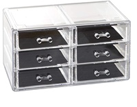 6 drawers acrylic jewelry and cosmetic container transparent cosmetic container storage rack