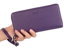 Женский Длинный кошелек из натуральной кожи, визитница Carteira Feminina, сумка для телефона, Женская сумочка на молнии, клатч(Китай)