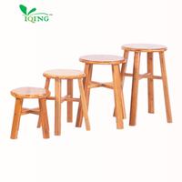 XB YIQING 1# Bamboo Round Stool Wholesale Vintage Small Round Wooden Stool Wood Round Stools Chairs with High Quality
