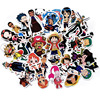 48pcs/lot Mixed stickers for laptop sticker decal fridge skateboard PVC stickers for Travel Suitcas