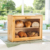 2- Layer Bamboo Bread Box with Acrylic Window