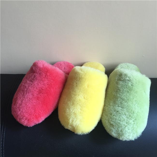 New arrival cheap sheepskin slippers for women