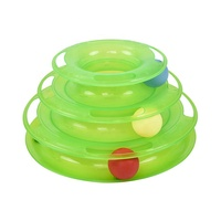 Wholesale Eco- Friendly Funny Cat Toys Turntable Balls Interactive Pet Cat Toy