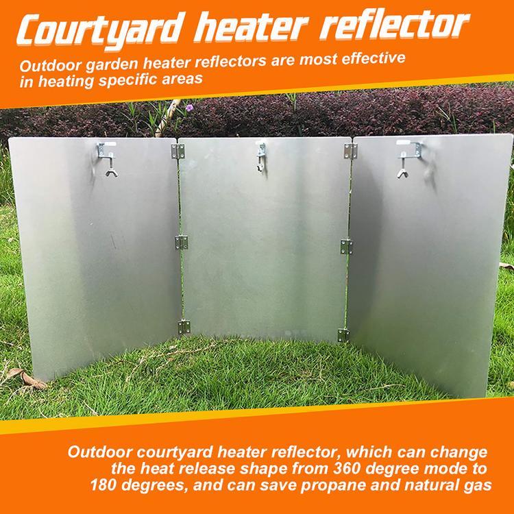 BuleEco Protector Del Reflector Del Calentador Reflector Del Calentador Del Patio Protector Del Reflector Plegable Reflector de Enfoque de Calor para Calentadores de Patio Redondos de Gas