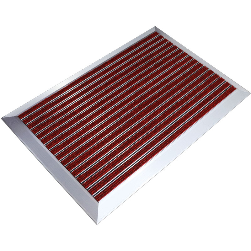 6063-T5 Aluminum Alloy Mats PVC strip and corner Metal Entrance Door Mats For Home Use