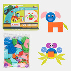 2020 amazon best sellers children wooden geometric jigsaw puzzle toys for enhance children's recognition of color and shape