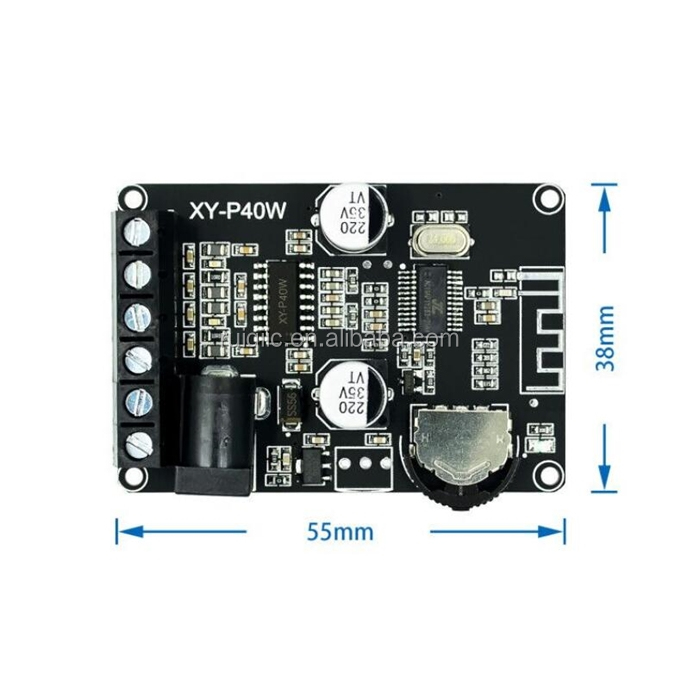 Bluetooth 5.0 Stereo Audio Power Amplifier Board 40Wx2 Bluetooth Receiver DC 12/24V Pasokan XY-P40W