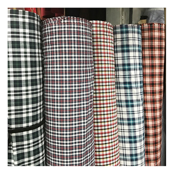Indian check design shirt material 100% cotton fabric stock