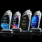 Color Crystal Award Crystal Crystals And Trophies High Quality Color Printing Crystal Award Glass Trophy