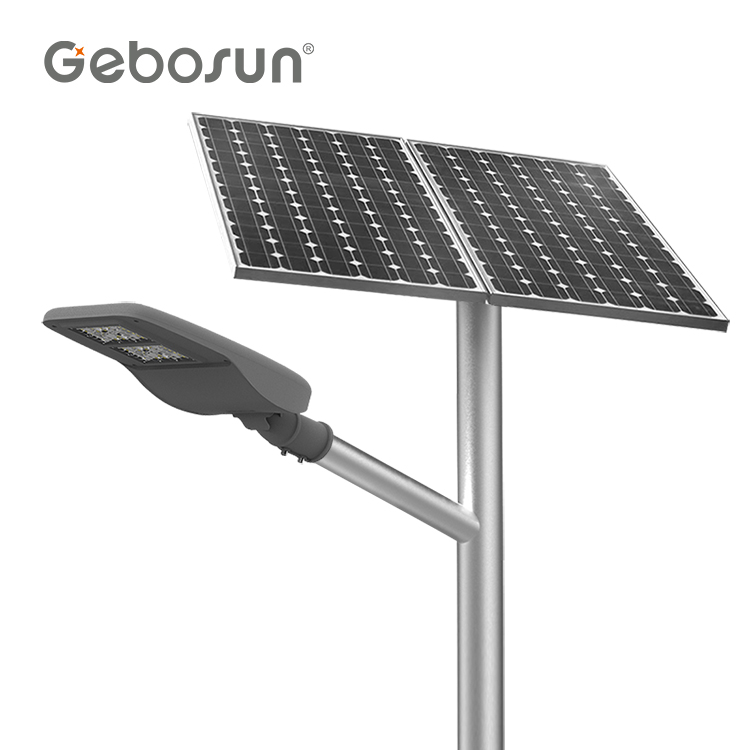 GEBOSUN Lithium battery <strong>explosion</strong> <strong>proof</strong> integrated 30 60 80w solar energy power led street <strong>light</strong>